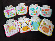first steps Baby Bibs Boys Girls Towel Infant Dribble Bib Toddler Cotton Blend