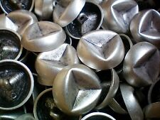 26mm Antique Aged Silver Rustic Industrial Metal Shank Costume Coat Buttons (XM7