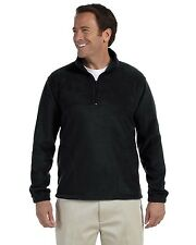 New Harriton Mens Fleece Pullover Jacket Big Sizes 2XL+