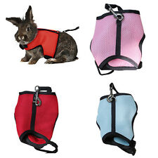 Hamster Rabbit Guinea Pig Rat Ferret Small Pet Breathable Harness Leash Lead