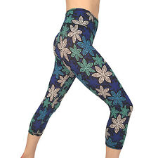 Womens Capri Legging Yoga Pants for Fitness Gym Wear Workout Clothes  S 239