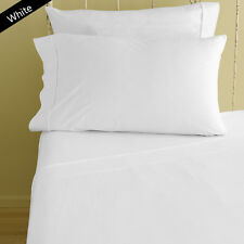 WHITE SOLID 1000TC 100%EGYPTIAN COTTON  DUVET/FITTED/FLAT/PILLOW ALL UK SIZE