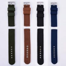 Men Infantry Military Wrist Army Nylon Watch Canvas Strap Band 18/20/22/24mm