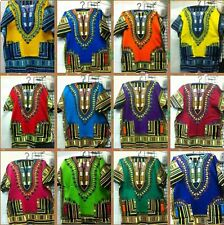 "56"" BOHO AFRICAN DASHIKI SHIRT HIPPIE TOP BLOUSE CAFTAN TRIBAL UNISEX MEN SHIRT"
