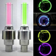 4 X Led Wheel Tyre Light Tire Valve Cap Lamp For Bike Bicycle Car Motorcycle UK