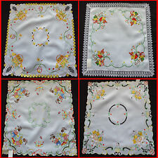 Lovely Embroidered Easter Large Tablecloth Doily Table runners 85x85cm Square
