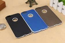 2 in 1 Ultra-Thin Silicone Soft TPU Rubber PC Frame Back Cover Case For iPhone