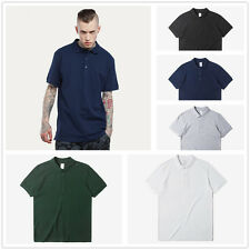 New Mens Short Sleeve T Shirt Slub Cotton Muscle Fit Top  Plain Tee Summer