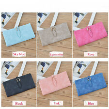 Fashion Women Ladies Girls Matte Wallet Button Clutch Purse Long Handbag Bag