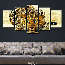 HD Print on Canvas Painting Home Decoration Wall Art animal Leopard 5pcs
