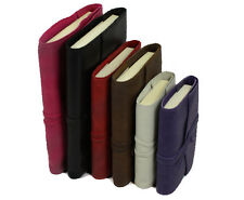 Papuro Milano Refillable Leather Address Book Journal - 3 Sizes and 6 colours