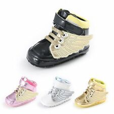 Baby Boys Girls Toddler Leather Non-slip Soft Sole Crib Shoes Sneakers 0-18Month