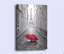 HD Painting Picture Print on Canvas Wall Art ,Red umbrella The Eiffel Tower