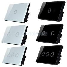 1Way 1/2/3 Gang Crystal Glass Smart Dimmer Touch Switch Panel Control Home Light
