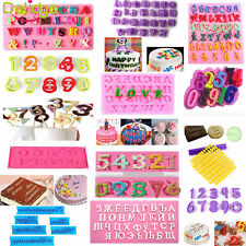 Alphabet Letter Number Fondant Mold Cake Biscuit Cookie Cutter Decorating Mould