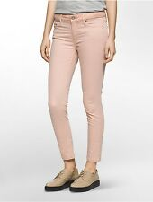 calvin klein womens ultimate skinny garment-dyed ankle jeans
