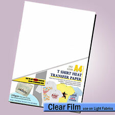 T shirt Iron On Transfer Paper A4 - INKJET - Tee Shirt Decal (For LIGHT Fabric )