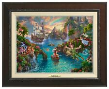 "Thomas Kinkade Disney Peter Pan's Never Land 12"" x 16"" Canvas Classic"