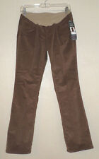 NEW $56 MOTHERHOOD Brown Corduroy MATERNITY PANTS jeans M 8 10 NWT - LAST ONE