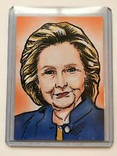 Hillary Clinton Decision 2016 Series 2 RARE Sketch Brian Kong One of One 1/1