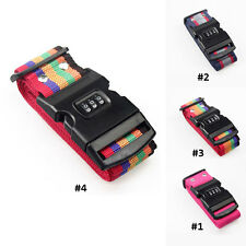 Security Adjustable Luggage Belt Strap Travel with Combination Lock Suitcase