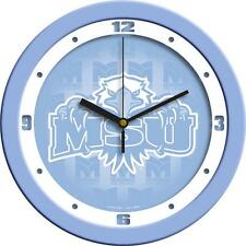 Morehead State University Clock Baby Blue Glass Wall Clock