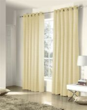SAVOY CREAM GOLD EMBROIDERED CHAIN LINK LINED RING TOP CURTAINS #ZTIR AS