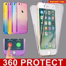 360° Shockproof Silicone Protective Clear Case Cover For Apple iPhone 7 6s plus