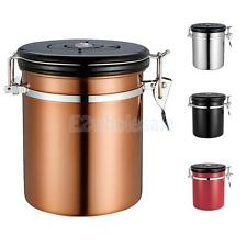 1.5L Coffee Tea Canister Jar Dry Food Fresh Storage Seal Container Box 4 Colors