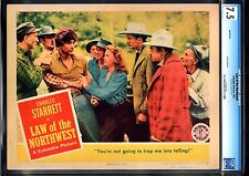 LAW OF THE NORTHWEST-SHIRLEY PATTERSON-1943-LOBBY CARD-CGC 7.5-VF- VF-
