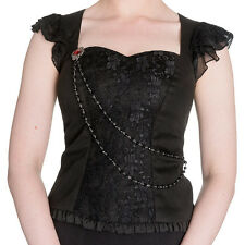 SPIN DOCTOR Ophelia ~ Gothic Vampire Lace Top ~ Goth Victorian Hell Bunny Punk