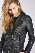 TOPSHOP *Black Leather Biker Jacket* SIZE_UK6_8_10_12_14_16