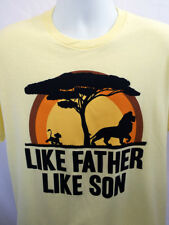 The Lion King Family Men's T-shirt (L -XL) LIKE FATHER LIKE SON  Disney #9393
