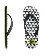 MEN'S GUYS REEF CHIPPER PRINTS BLACK SANDALS FLIP FLOPS BRAND NEW $29