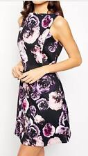 ASOS A-line Bonded Scuba Skater Dress in Floral Photographic Print