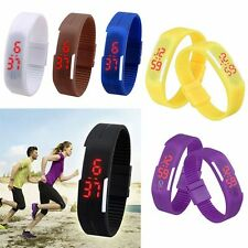 Men Women Silicone Sport Watch Waterproof LED Digital Watch Bracelet Wrist Watch