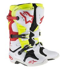 NEW Alpinestars TECH 10 BOOTS WHITE/RED/YELLOW [FAST SHIPPING]