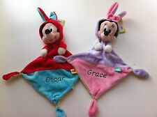 Personalised Disney Mickey & Minnie Mouse Ears Comforter. Great Baby Easter Gift