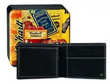 Carhartt Men's Man Purse Wallet Pebble Passcase Wallet REAL LEATHER LEATHER