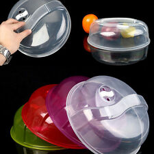 Transparent Microwave Ventilated Plate Dish Food Cover Steam Vent Lid Popular