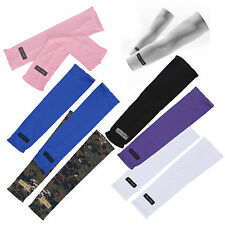 Sport Skin Arm Sleeve Cooling UV Cover Sun protective Stretch Armband M1U9