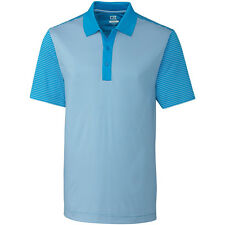 Cutter & Buck Mens Compound Mixed Stripe Polo