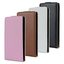 1 Genuine leather Flip Case Cover Open up for Sony Xperia Z C6603 / L36H experia