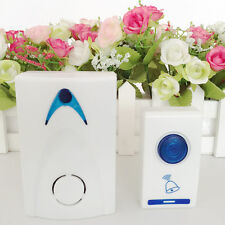 LED Wireless Chime Smart Door Bell Doorbell & Remote control 32 Tune Songs FJOY