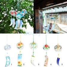 Wind Chime Glass Wind Bell Garden Decor Hanging Ornament Japanese Style