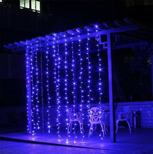 3Mx1M 144 LED Outdoor Fairy Curtains String light for Xmas Wedding Party Blue