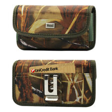 Reiko Camouflage Rugged Canvas Metal Belt Clip Case Card Slot for Huawei Phones