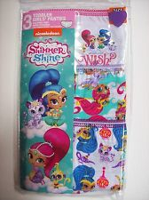 Shimmer and Shine Underwear Underpants Girls 3 Pr Panty Select Sz 2T3Toddler NIP