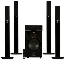 """Acoustic Audio AAT2003 Tower 5.1 Bluetooth Home Speaker System w/ 8"""" Powered Sub"""