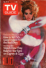 1985 TV Guide - Madonna - Good Videos - Sharon Gless - Cagney and Lacey
